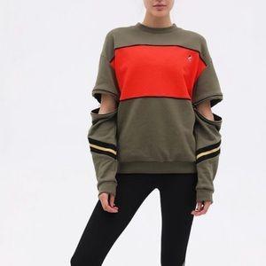 PE Nation The Century Sweatshirt Zipper Sleeves L